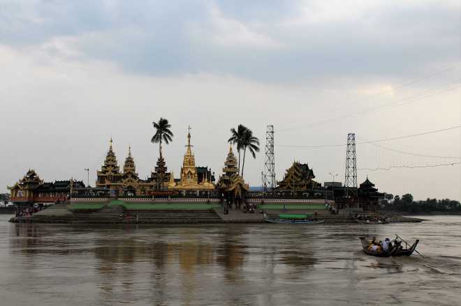 Yangon, Floating Pagoda - 1